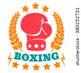 vector vintage logo for boxing | Shutterstock .eps vector #380252731