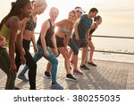 group of young athletes in... | Shutterstock . vector #380255035