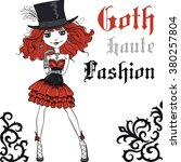 Goth Cute Girl In Style Of High ...
