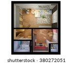 3d render of interior design... | Shutterstock . vector #380272051