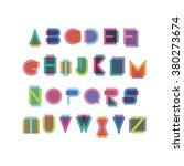 geometric font with effect of... | Shutterstock .eps vector #380273674