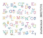 colorful alphabet of a letter...   Shutterstock .eps vector #380273731