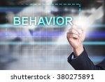 businessman drawing on virtual... | Shutterstock . vector #380275891