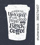 vector illustration of coffee... | Shutterstock .eps vector #380276437