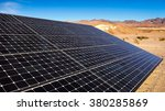 solar panels soak up the sun in ... | Shutterstock . vector #380285869