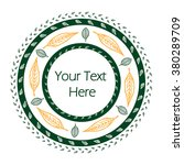 circular frame with hand drawn...   Shutterstock .eps vector #380289709