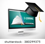 it communication   e learning ... | Shutterstock .eps vector #380299375