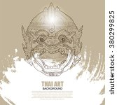 thai dance and culture... | Shutterstock .eps vector #380299825