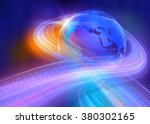 graphical digital binary code... | Shutterstock . vector #380302165