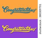 congratulations hand lettering. ... | Shutterstock .eps vector #380309701