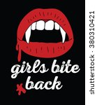 vampire lips with fangs  ... | Shutterstock .eps vector #380310421