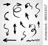 hand drawn arrows  vector set | Shutterstock .eps vector #380313517