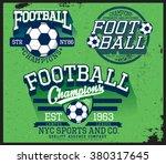football  soccer t shirt graphic | Shutterstock .eps vector #380317645