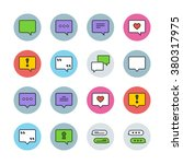 speech bubbles icons | Shutterstock .eps vector #380317975