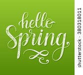 hello spring. hand drawn... | Shutterstock .eps vector #380318011