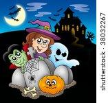 halloween characters before... | Shutterstock . vector #38032267