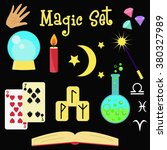 fortune teller vector set.... | Shutterstock .eps vector #380327989