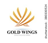 logo gold wings icon element...   Shutterstock .eps vector #380330524