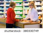 happy senior citizen customer...   Shutterstock . vector #380330749