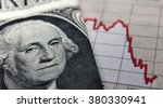 stock market graph next to a 1... | Shutterstock . vector #380330941
