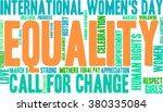 equality word cloud on a white... | Shutterstock .eps vector #380335084