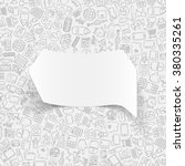 business paper sticker with... | Shutterstock .eps vector #380335261