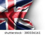 flag of united kingdom on white ...