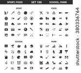 sport icons set. | Shutterstock .eps vector #380336764