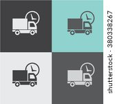 truck vector icon. delivery... | Shutterstock .eps vector #380338267