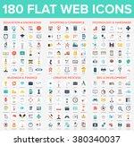 vector set of 180 flat web... | Shutterstock .eps vector #380340037