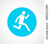 runner icon isolated on white...