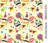 seamless holiday purim pattern | Shutterstock .eps vector #380351191
