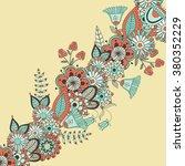 vector modern floral card in...   Shutterstock .eps vector #380352229