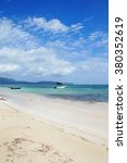 virgin beach  samana peninsula  ... | Shutterstock . vector #380352619