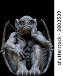 Scary Looking Gargoyle Sitting...
