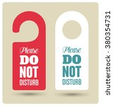 hotel door hanger tags ... | Shutterstock .eps vector #380354731