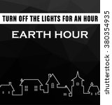 earth hour typographic vector... | Shutterstock .eps vector #380354935