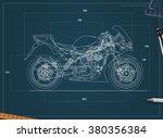 Blueprint Sport Bike. Vector....