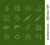 set of army and military icons  ...   Shutterstock .eps vector #380362789
