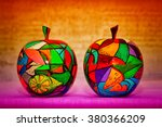 creative apples made of wood... | Shutterstock . vector #380366209