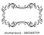 vintage ornamental vector frame | Shutterstock .eps vector #380368759