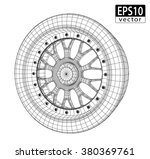 car wheel wire model   eps10...