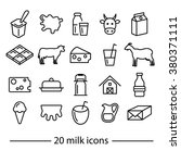 milk icons collection | Shutterstock .eps vector #380371111