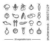 vegetable icons collection | Shutterstock .eps vector #380371129