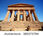 ancient temple ruins with blue... | Shutterstock . vector #380373784