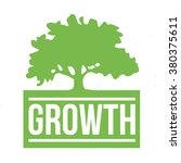 green tree with words growth on ... | Shutterstock .eps vector #380375611