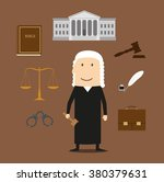 judge profession icons with... | Shutterstock .eps vector #380379631