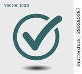 check list button icon. check... | Shutterstock .eps vector #380380387
