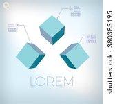 three cubes branding icon... | Shutterstock .eps vector #380383195