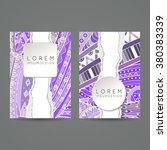 set of vector design templates. ... | Shutterstock .eps vector #380383339